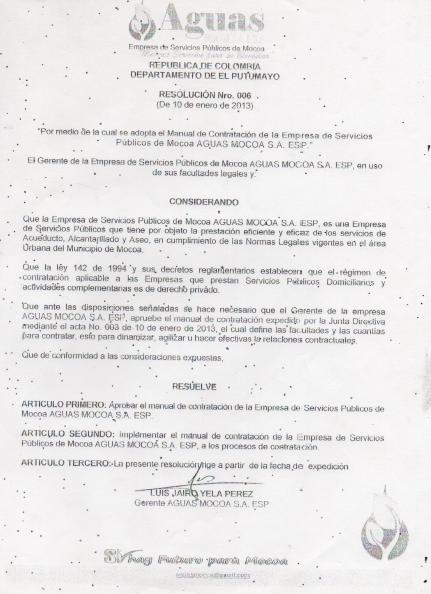 resolucion 006 de 10 enero 2013